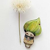 """Украшения ручной работы. Ярмарка Мастеров - ручная работа брошь """"С весной в сердце"""" (0106). Handmade."""