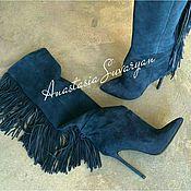 Обувь ручной работы handmade. Livemaster - original item women`s boots with fringe. Handmade.