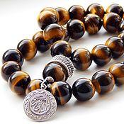 Фен-шуй и эзотерика handmade. Livemaster - original item Tiger`s Eye rosary with silver. Handmade.