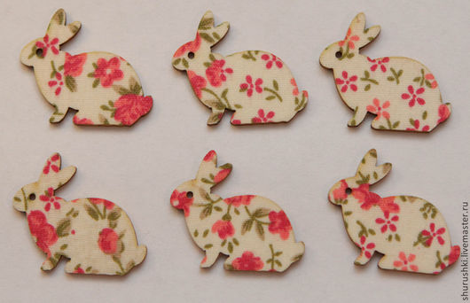 Упаковка ручной работы. Ярмарка Мастеров - ручная работа. Купить Кролик пасхальный деревянный. Handmade. Разноцветный, пасхальный декор