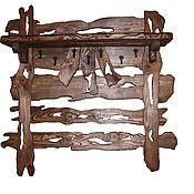 Для дома и интерьера ручной работы. Ярмарка Мастеров - ручная работа полка - вешалка. Handmade.