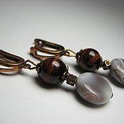 Украшения handmade. Livemaster - original item Earrings agate and bullseye