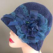 Аксессуары handmade. Livemaster - original item Hat Vintage blue. Handmade.