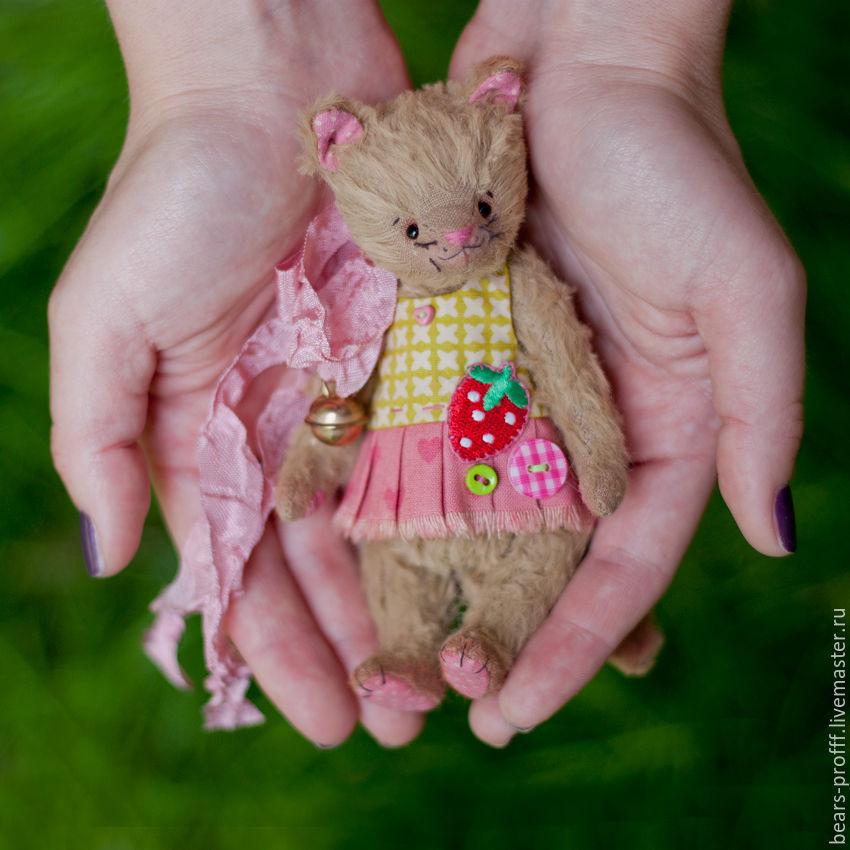 Мишки Тедди ручной работы. Ярмарка Мастеров - ручная работа. Купить Котуся. Handmade. Тедди, бежевый, кошка тедди, вискоза