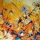 """Картины цветов ручной работы. Ярмарка Мастеров - ручная работа. Купить """"Солнечный ветер"""" 80х90 см большая картина маслом мастихином цветы. Handmade."""