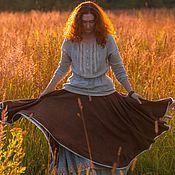 """Одежда ручной работы. Ярмарка Мастеров - ручная работа Льняная юбка """"Вкус закатного солнца"""". Handmade."""