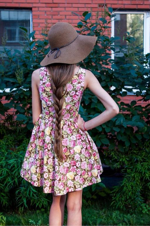 6ae40c521bf ручной работы. Ярмарка Мастеров - ручная работа. Купить Легкое летнее платье  в цветочек. ...