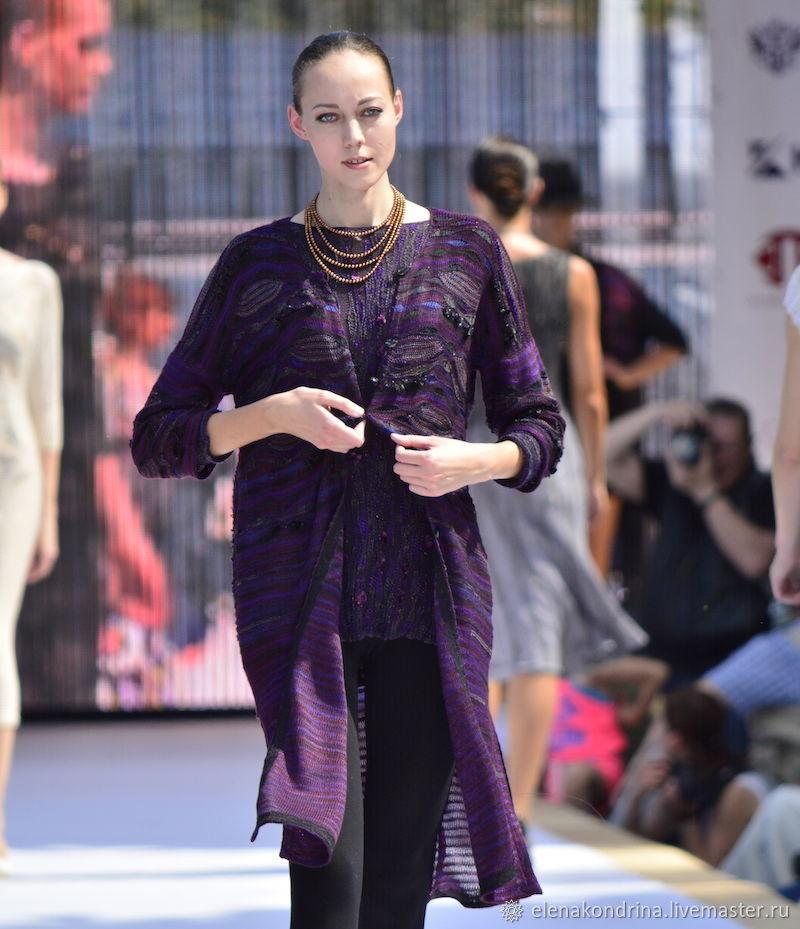 Cardigan purple silk, Cardigans, Ivanovo,  Фото №1