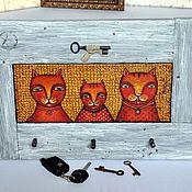 """Картины и панно ручной работы. Ярмарка Мастеров - ручная работа Картина-ключница """"Семья"""". Handmade."""