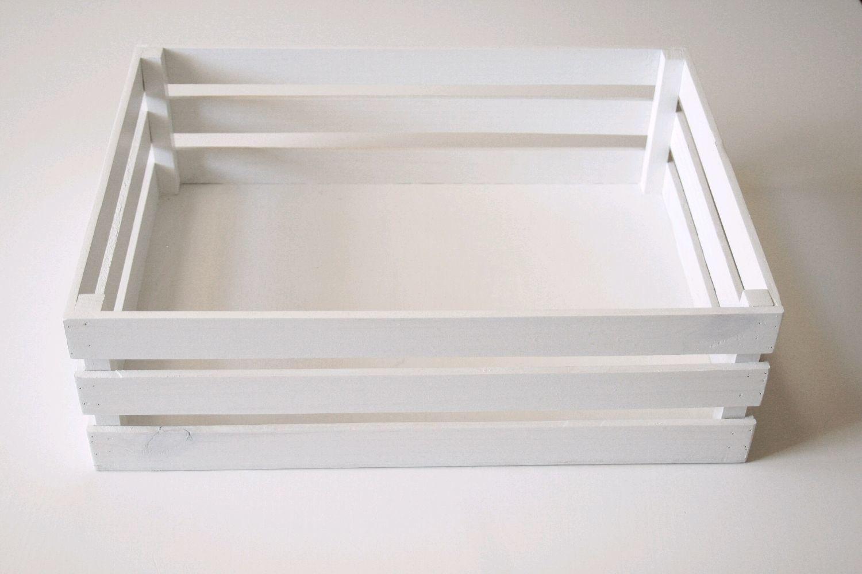 Ящик деревянный (ящик-кашпо). Цвет «Белый», 40х30см, , Иркутск, Фото №1