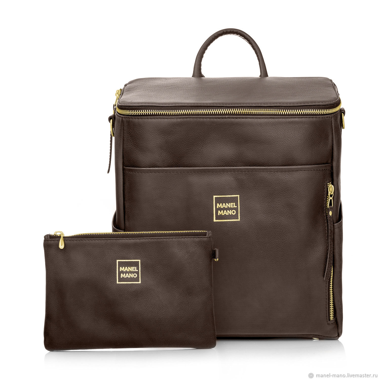 Рюкзак FUSTO коричневый BROWN / GOLD, Рюкзаки, Санкт-Петербург,  Фото №1