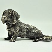 """Для дома и интерьера handmade. Livemaster - original item Copy of Silver figures """"Yorkshire Terrier"""". Handmade."""