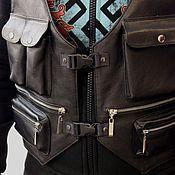 Одежда ручной работы. Ярмарка Мастеров - ручная работа Кожаный жилет-разгрузка Uncle Sam. Handmade.