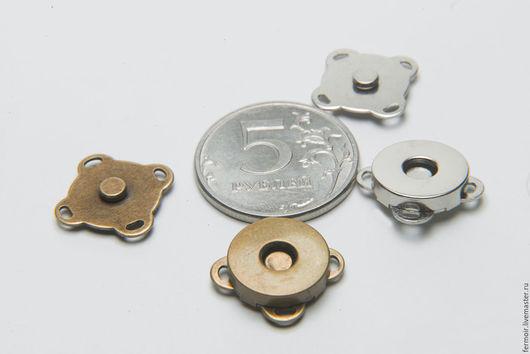 Шитье ручной работы. Ярмарка Мастеров - ручная работа. Купить Кнопка магнитная 14 мм. Handmade. Хаки, кнопка магнитная