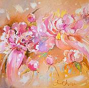 Картины и панно ручной работы. Ярмарка Мастеров - ручная работа Кремовые цветы - картина маслом. Handmade.