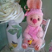 Куклы и игрушки ручной работы. Ярмарка Мастеров - ручная работа Розовый зайка романтик 2. Handmade.