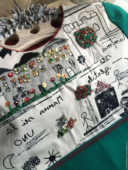 Одежда для девочек, ручной работы. Ярмарка Мастеров - ручная работа. Купить Платье ПЛТ 2057. Handmade. Морская волна