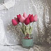 Подарки к праздникам ручной работы. Ярмарка Мастеров - ручная работа Тильда Тюльпаны. Handmade.