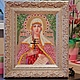 Икона бисером ручной работы `Святая Татьяна` в интерьере