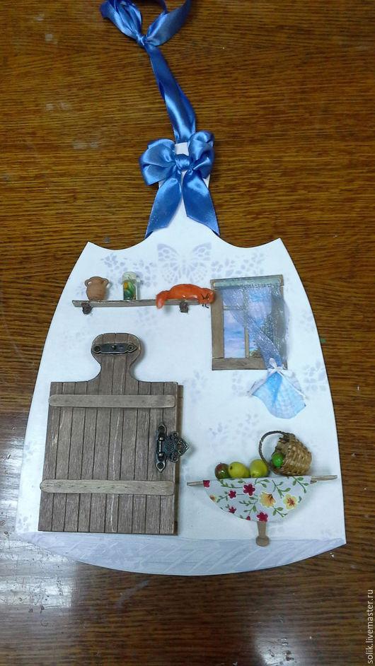 """Фантазийные сюжеты ручной работы. Ярмарка Мастеров - ручная работа. Купить """"Дверь к счастью! Рыжий кот.""""  - панно миниатюра. Handmade."""