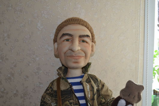 Коллекционные куклы ручной работы. Ярмарка Мастеров - ручная работа. Купить Охотник. Handmade. Коричневый, кукла интерьерная, охотнику, капрон