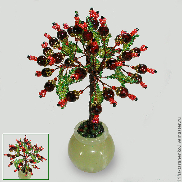 Wish tree of pomegranate in a vase of onyx