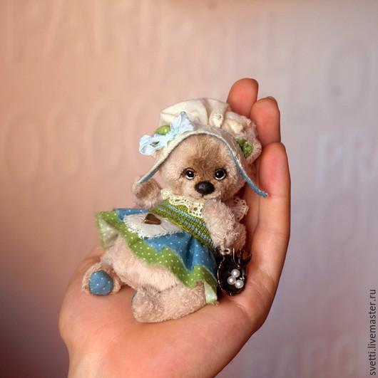 Мишки Тедди ручной работы. Ярмарка Мастеров - ручная работа. Купить Оливия. Handmade. Белый, маленький мишка тедди, teddybear