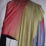 Винтаж handmade. Livemaster - original item Stole made of silk with pashmina,vintage Turkey. Handmade.
