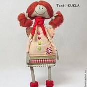 Куклы и игрушки ручной работы. Ярмарка Мастеров - ручная работа Ангел-хранитель - рыжая девченка. Handmade.