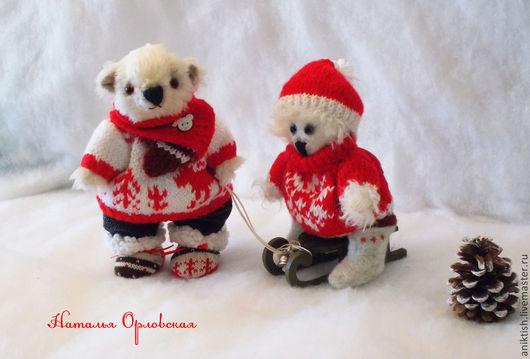 Мишки Тедди ручной работы. Ярмарка Мастеров - ручная работа. Купить Мишки-тедди зимние. Handmade. Белый, мишка в подарок
