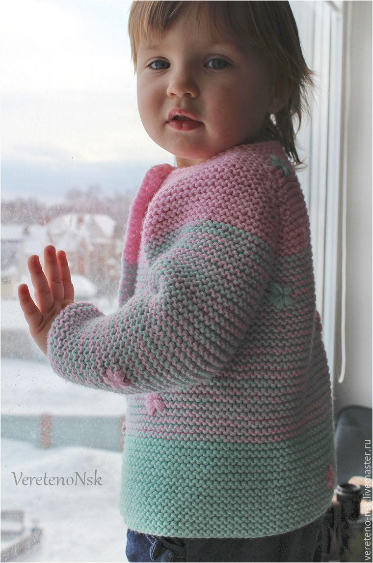 Кардиган платочной вязкой схема вязания 40