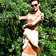 """Платья ручной работы. платье ручной работы """"Янтарный лотос"""". KiEra. Ярмарка Мастеров. Янтарный цвет, зелень, шерсть меринос"""