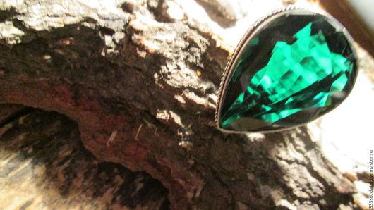 Кольца ручной работы. Ярмарка Мастеров - ручная работа. Купить кольцо 18  Зеленый кварц. Handmade. Зеленый, красивый