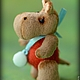 Мишки Тедди ручной работы. Бегемотик Нюша. Ольга 'Сказка рядом'. Интернет-магазин Ярмарка Мастеров. Бегемотик, синтепух