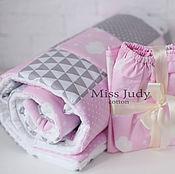 Работы для детей, handmade. Livemaster - original item Bumpers in the crib: quilt - bedspread. Handmade.