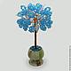 Дерево из топаза `Топазовый рай` в вазочке из оникса