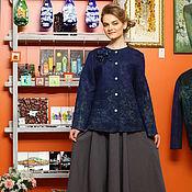 """Одежда ручной работы. Ярмарка Мастеров - ручная работа Жакет женский из войлока """"Благородный ..жакет валяный. Handmade."""