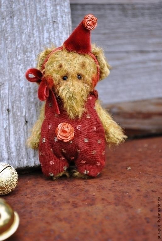 Мишки Тедди ручной работы. Ярмарка Мастеров - ручная работа. Купить Слоня  МиМи (миниатюра - брошка). Handmade. Бордовый, слоны