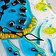 Часы для дома ручной работы. Заказать Фьюзинг  часы «Черепашка в пруду». Студия «СТЁКЛЫШКИ», Фьюзинг. Ярмарка Мастеров. Фьюзинг стекло