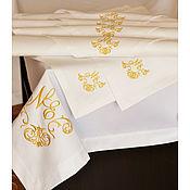 Скатерти ручной работы. Ярмарка Мастеров - ручная работа Скатерть с салфетками. Handmade.