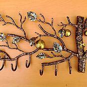 Для дома и интерьера ручной работы. Ярмарка Мастеров - ручная работа Вешалка яблоня. Handmade.