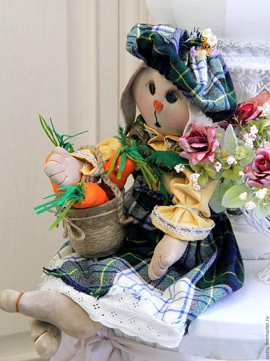 Куклы Тильды ручной работы. Ярмарка Мастеров - ручная работа. Купить Зайка хозяйка. Handmade. Бежевый, интерьерная кукла