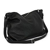 Сумки и аксессуары handmade. Livemaster - original item Black Bag with shoulder strap with internal Crossbody pocket. Handmade.