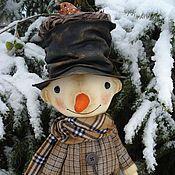 Куклы и игрушки ручной работы. Ярмарка Мастеров - ручная работа Снеговик и птичка. Handmade.