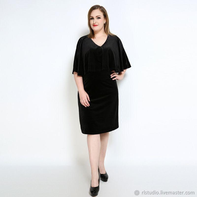 40e68f2297b Dresses handmade. Livemaster - handmade. Buy Plus Size Black Velvet Party  Dress.