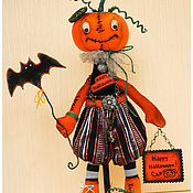 Куклы и игрушки ручной работы. Ярмарка Мастеров - ручная работа авторская игрушка Тыковка Хеллоуин. Handmade.