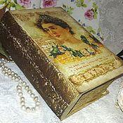 """Для дома и интерьера ручной работы. Ярмарка Мастеров - ручная работа """"Томик"""" шкатулка-книга. Handmade."""