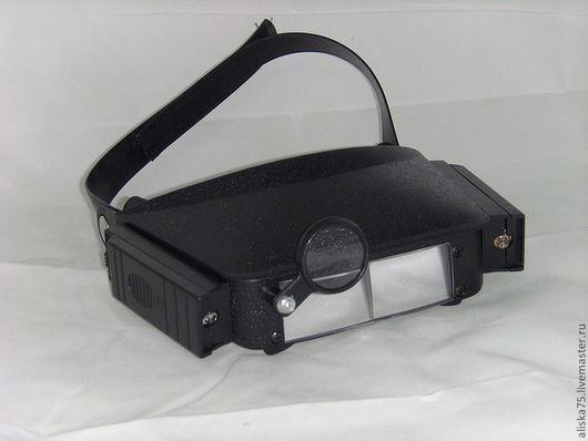 Вышивка ручной работы. Ярмарка Мастеров - ручная работа. Купить Козырек-лупа с подсветкой MG 81007. Handmade. Черный, инструмент