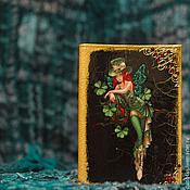 """Канцелярские товары ручной работы. Ярмарка Мастеров - ручная работа Кожаная обложка для паспорта """"Эльфийская"""". Handmade."""