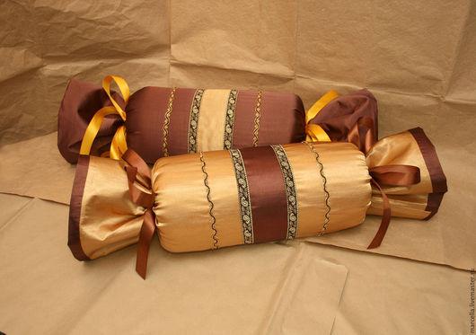 Текстиль, ковры ручной работы. Ярмарка Мастеров - ручная работа. Купить Подушки - валики. Handmade. Комбинированный, текстиль, валик, вельвет